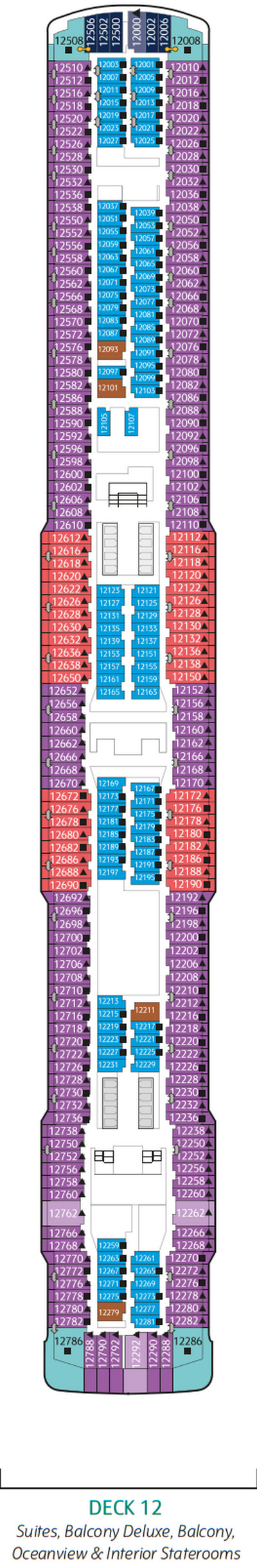 Genting Dream Deck 12 layout
