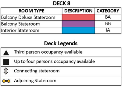 Genting Dream Deck 8 plan keys