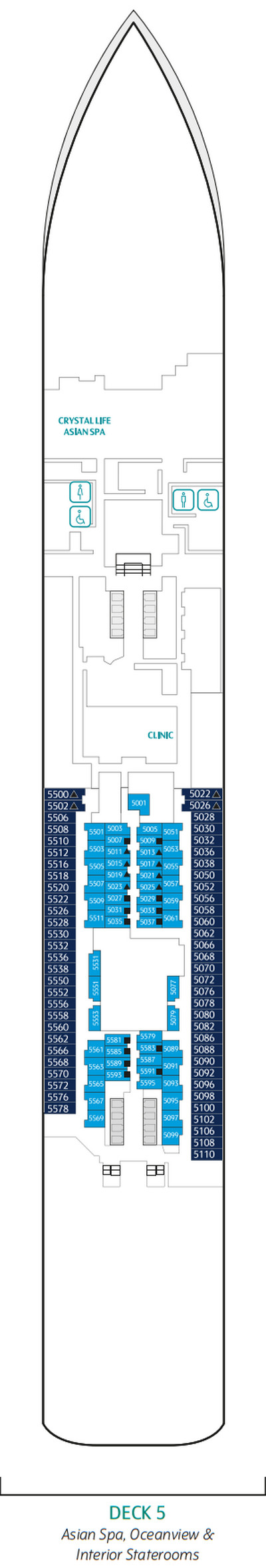 Genting Dream Deck 5 layout