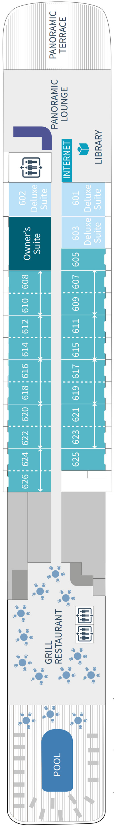 Le Soleal Deck 6 layout