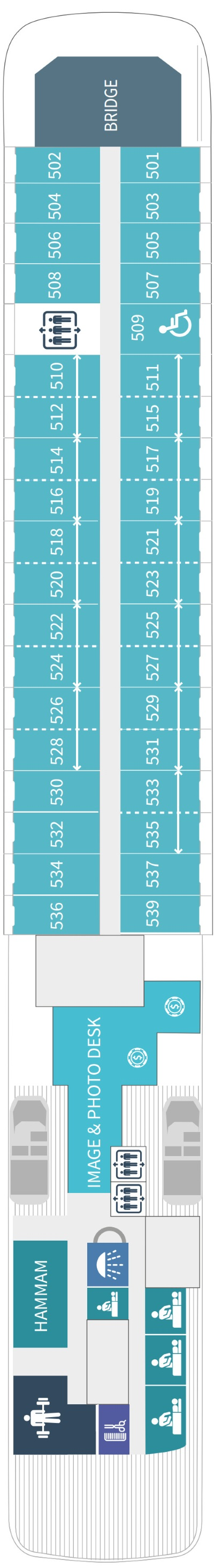 Le Soleal Deck 5 layout