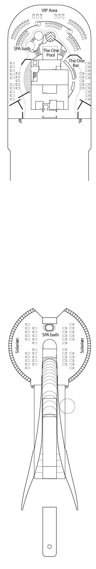 MSC Splendida Deck 18 - Sun Deck layout