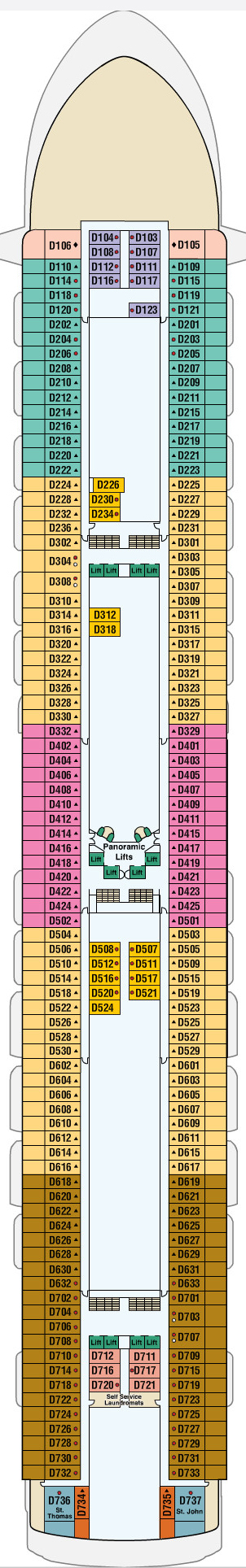 Emerald Princess Dolphin Deck 9 layout
