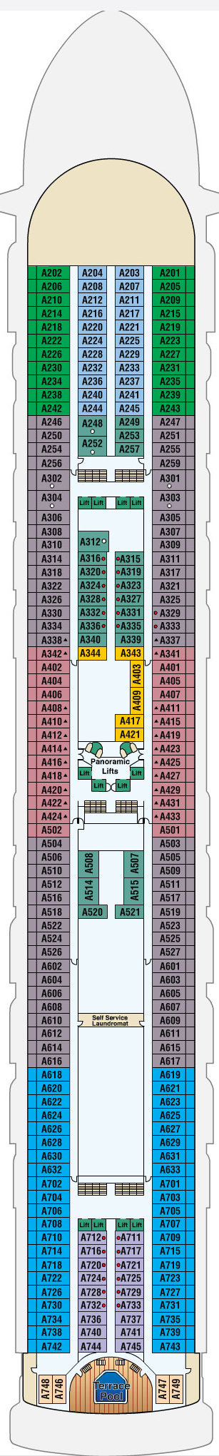 Golden Princess Aloha Deck 12 layout