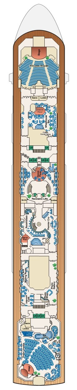 Sea Princess Promenade Deck 7 layout