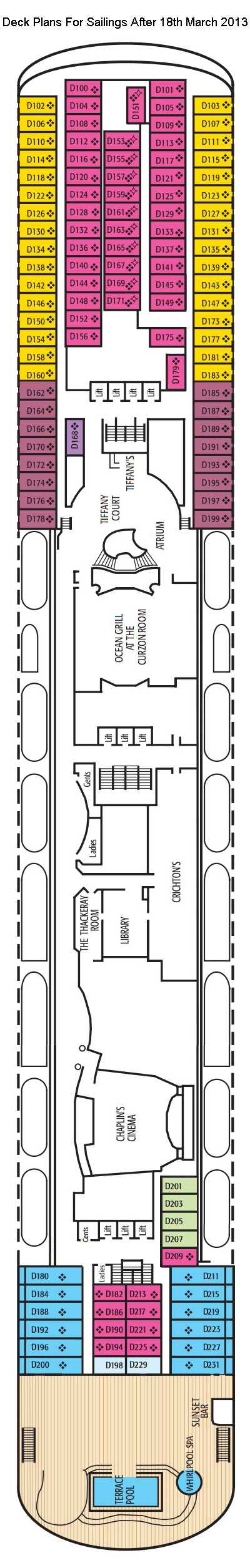 Oriana D Deck layout