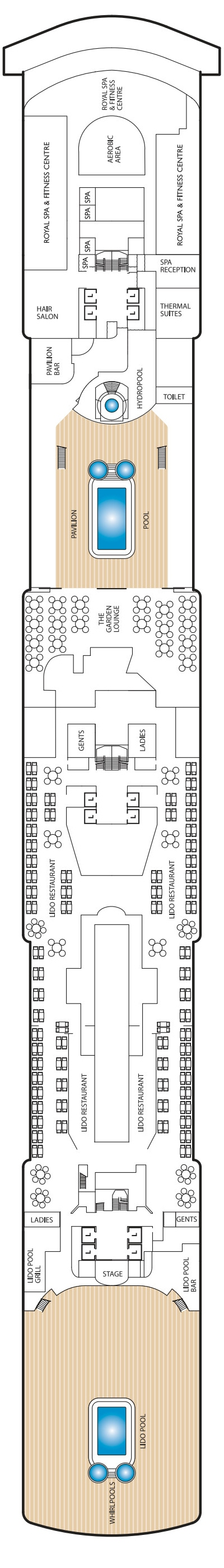 Queen Elizabeth Deck 9 layout