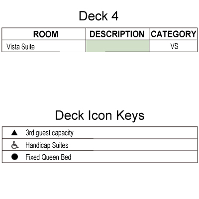 Silver Cloud Deck 4 plan keys