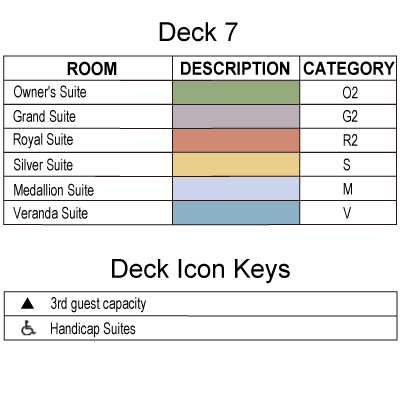 Silver Whisper Deck 7 plan keys