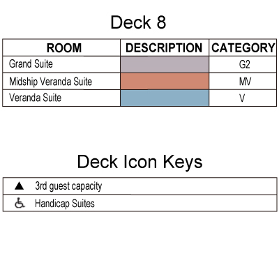 Silver Shadow Deck 8 plan keys