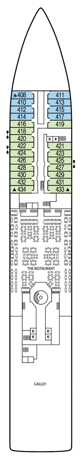 Seabourn Quest Deck 4 layout