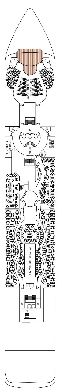 Seven Seas Mariner Deck  5 layout