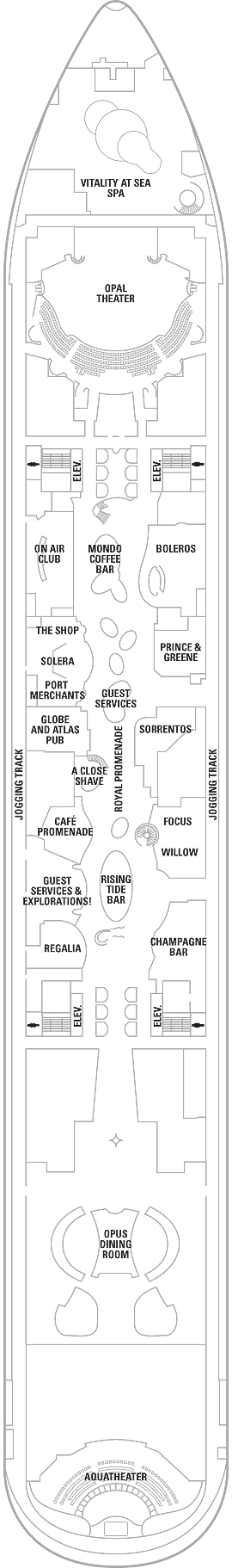 Oasis Of The Seas Deck 5 layout