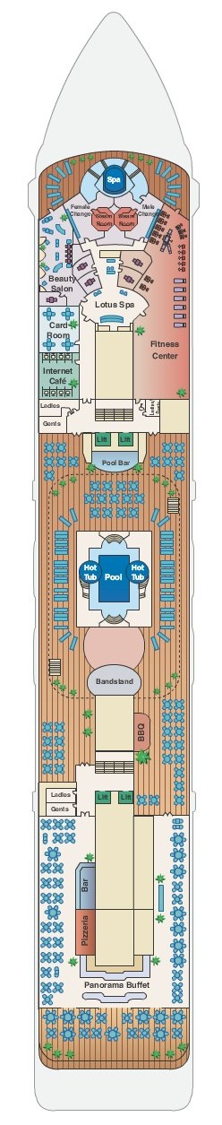 Pacific Princess Deck 9 layout