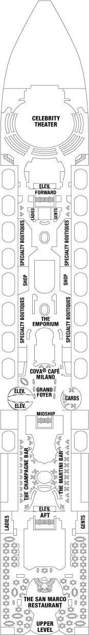 Celebrity Constellation Entertainment Deck layout