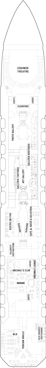 Celebrity Equinox Entertainment Deck layout