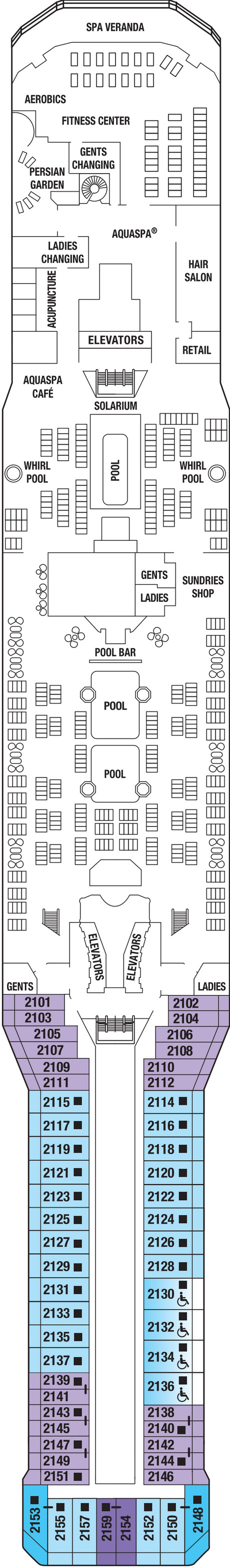 Celebrity Silhouette Resort Deck layout