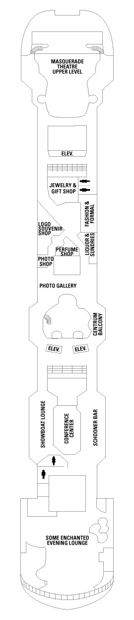 Vision Of The Seas Deck 6 layout