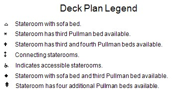 Allure Of The Seas Deck 16 plan keys