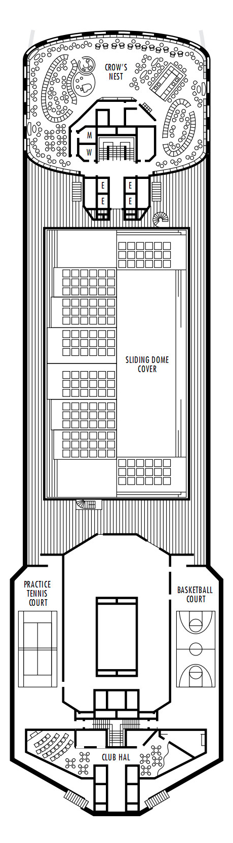 Maasdam Deck 12 - Sports Deck   layout