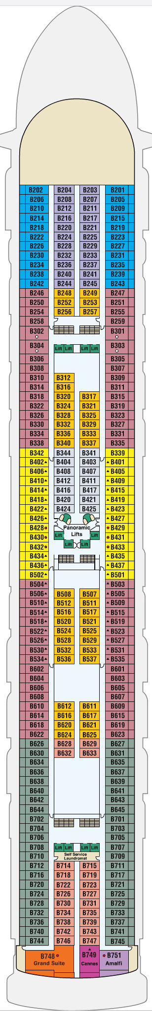 Star Princess Baja Deck 11 layout