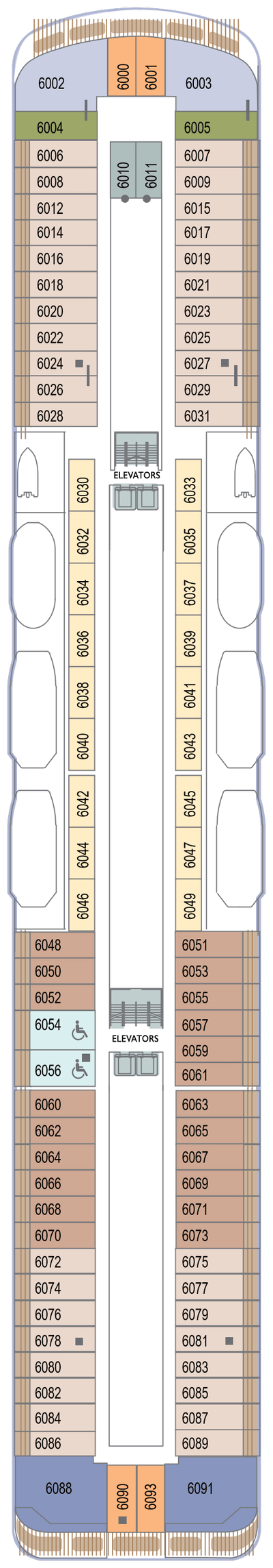 Azamara Quest Deck 6 layout