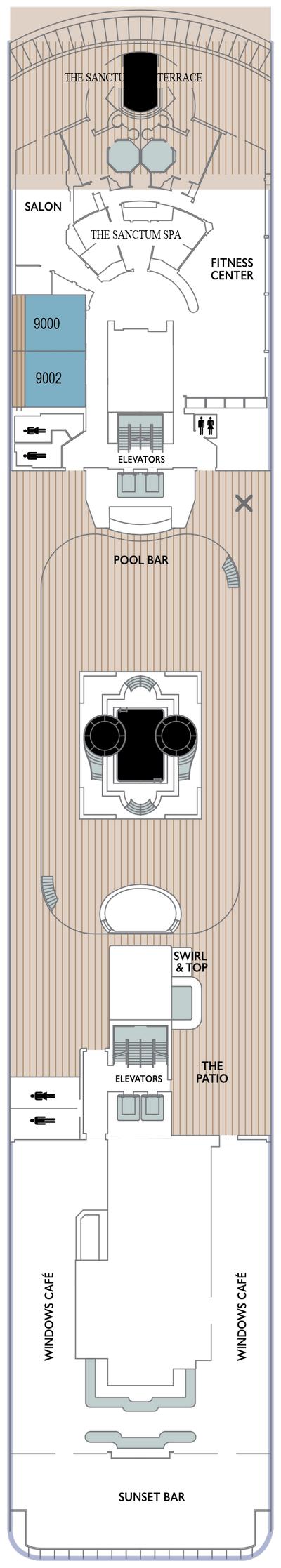 Azamara Quest Deck 9 layout
