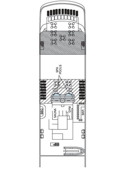 Reef Endeavour Sun Deck 5 layout