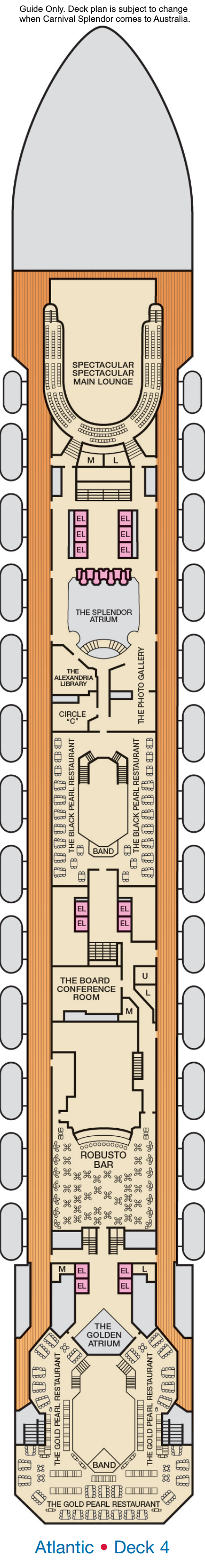 Carnival Splendor Deck 4 layout