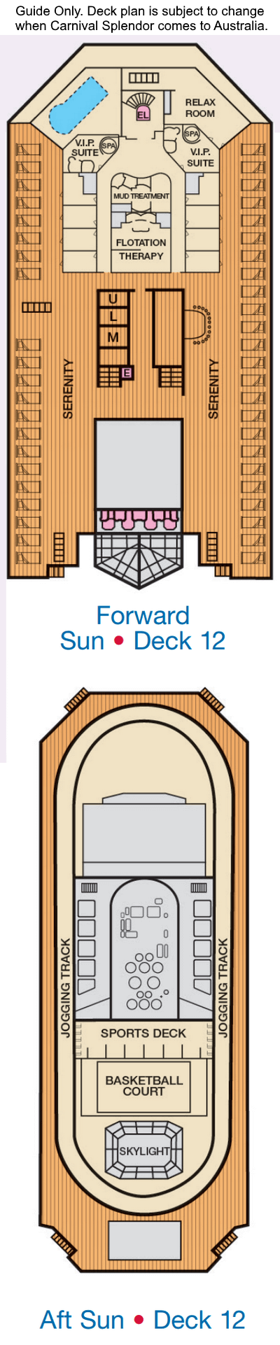 Carnival Splendor Deck 12 layout