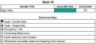 Celebrity Edge Deck 16 plan keys
