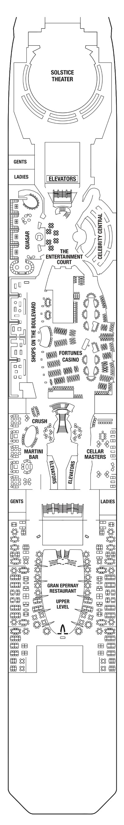 Celebrity Solstice Deck 4 layout