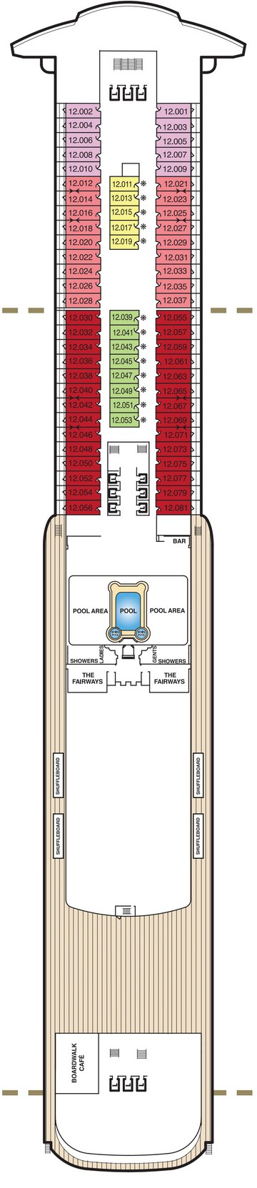 Queen Mary 2 Deck 12 layout