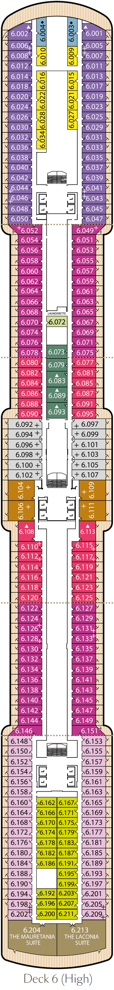 Queen Victoria Deck 6 layout