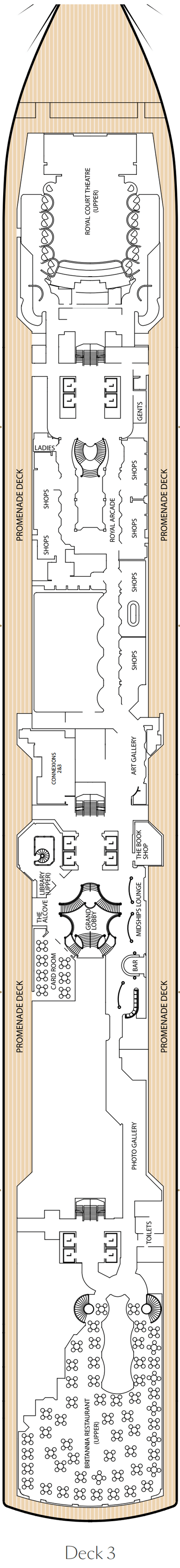 Queen Victoria Deck 3 layout