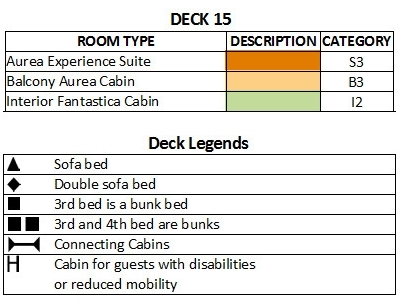 MSC Musica Deck 15 - Cantata plan keys