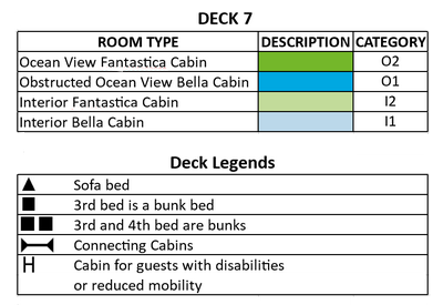 MSC Sinfonia Brahms Deck 7 plan keys