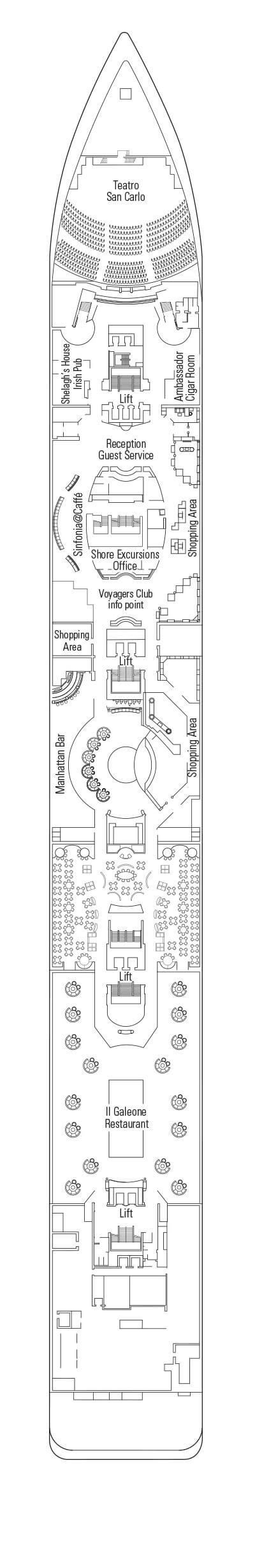 MSC Sinfonia Beethoven Deck 5 layout
