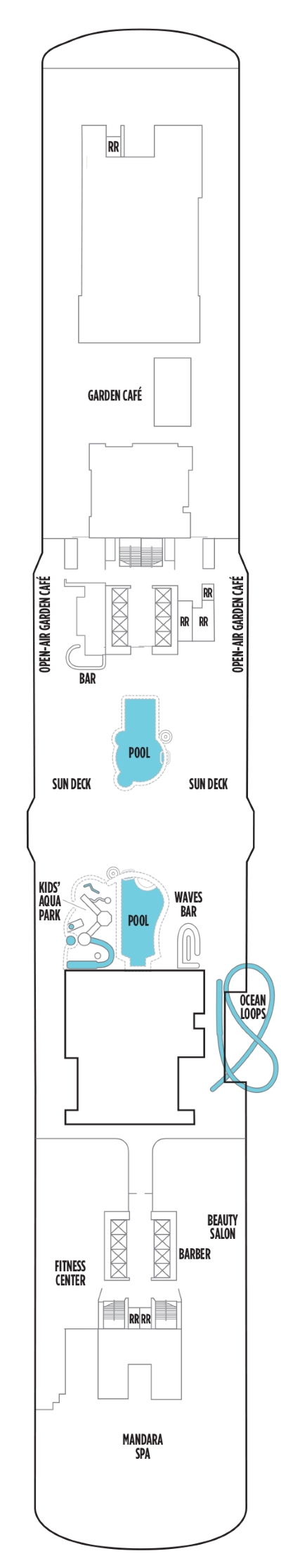 Norwegian Bliss Deck 16 layout