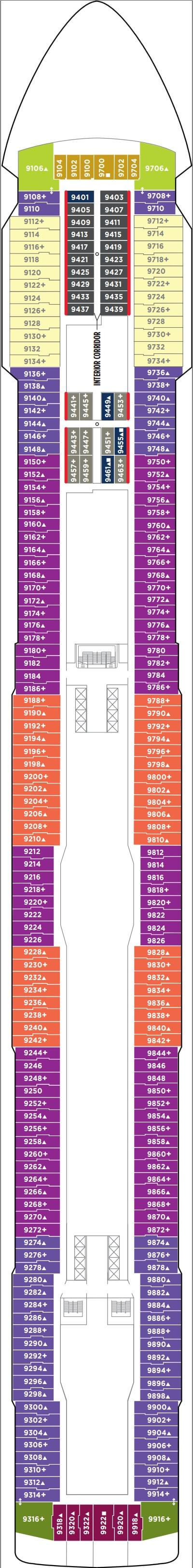 Norwegian Breakaway Deck 9 layout