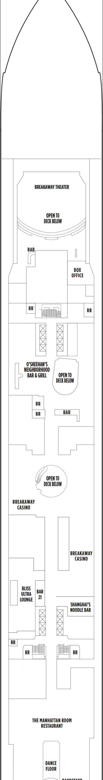 Norwegian Breakaway Deck 7 layout