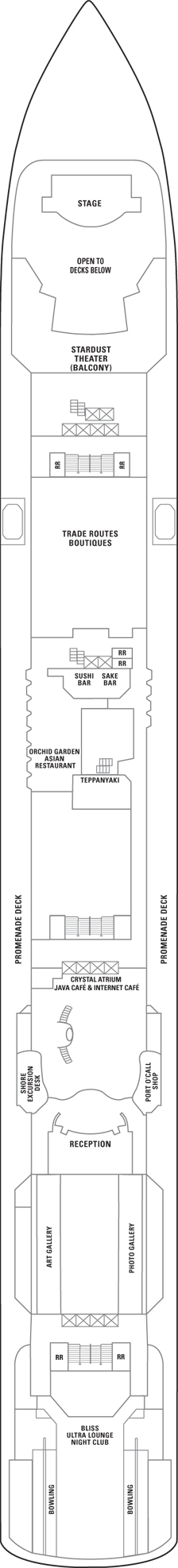 Norwegian Gem Deck 7 layout