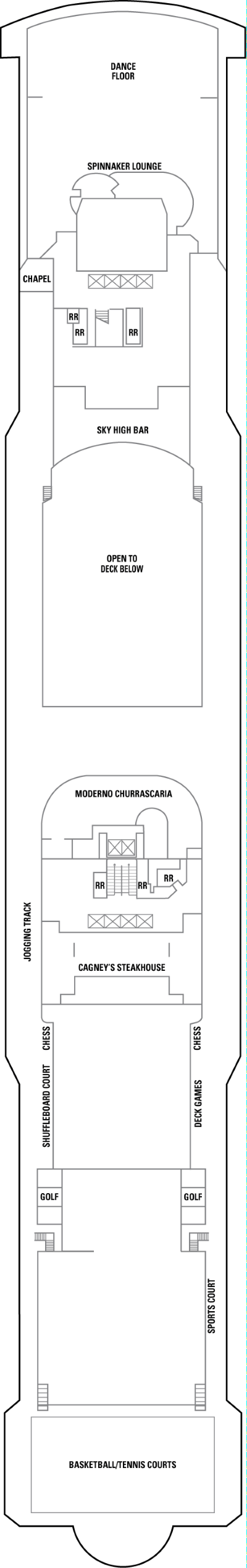 Norwegian Jewel Deck 13 layout