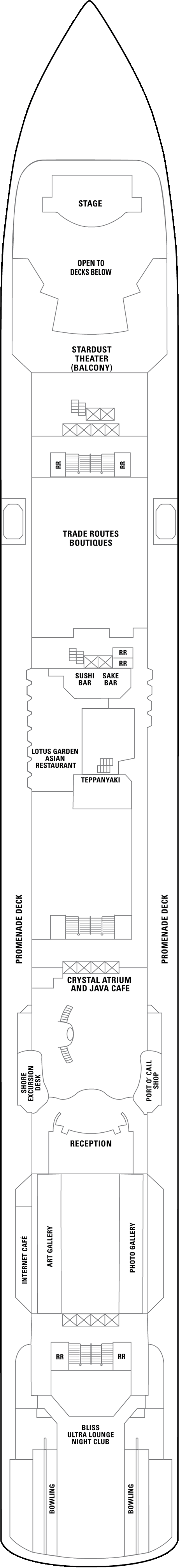 Norwegian Pearl Deck 7 layout