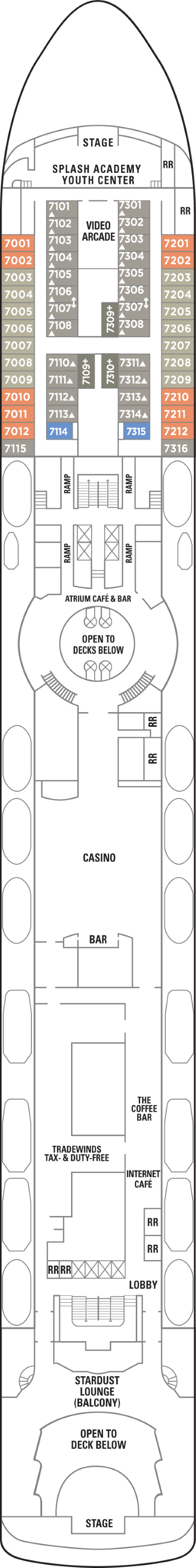 Norwegian Sky Deck 7 layout