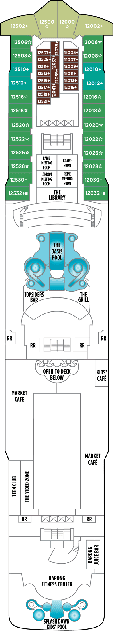 Norwegian Star Deck 12 layout
