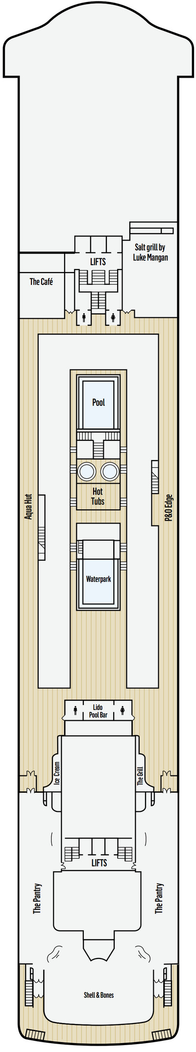 P&O - Pacific Dawn Deck 12 layout