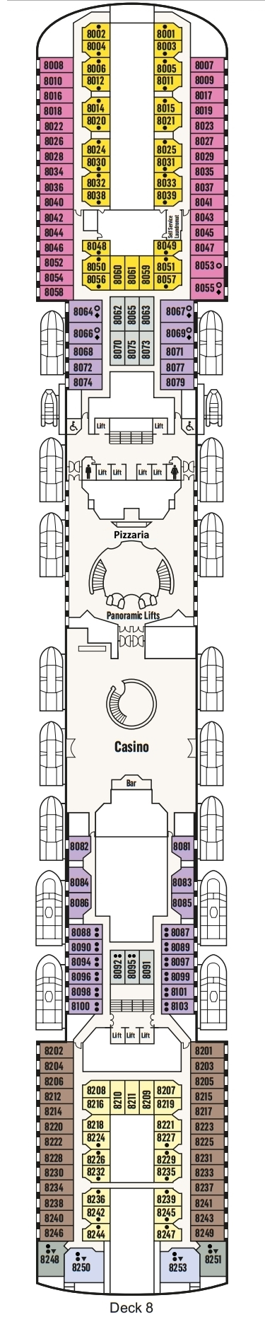 P&O - Pacific Explorer Deck 8 layout