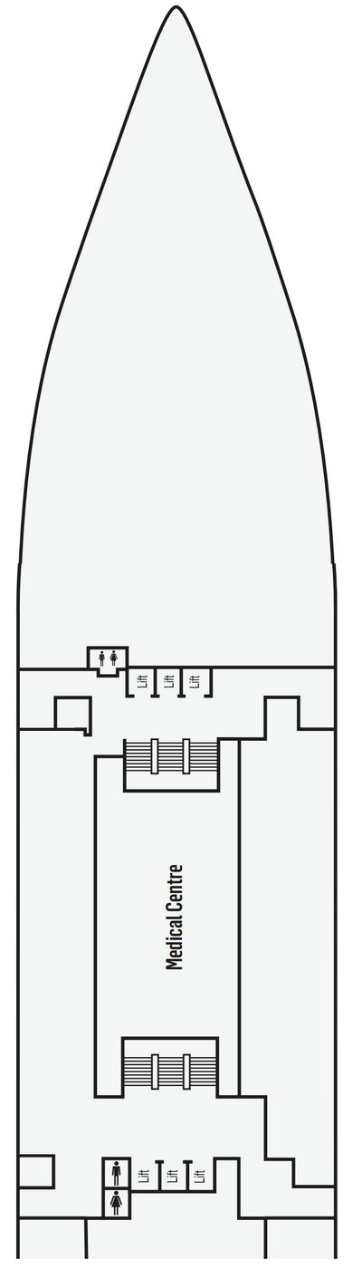 P&O - Pacific Jewel Deck 4 layout