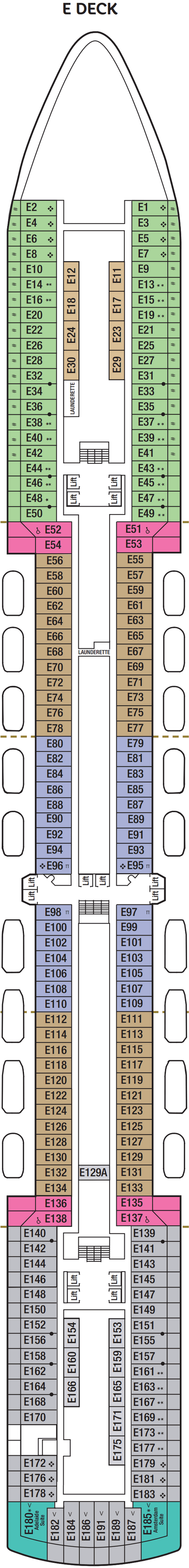 Arcadia E Deck layout
